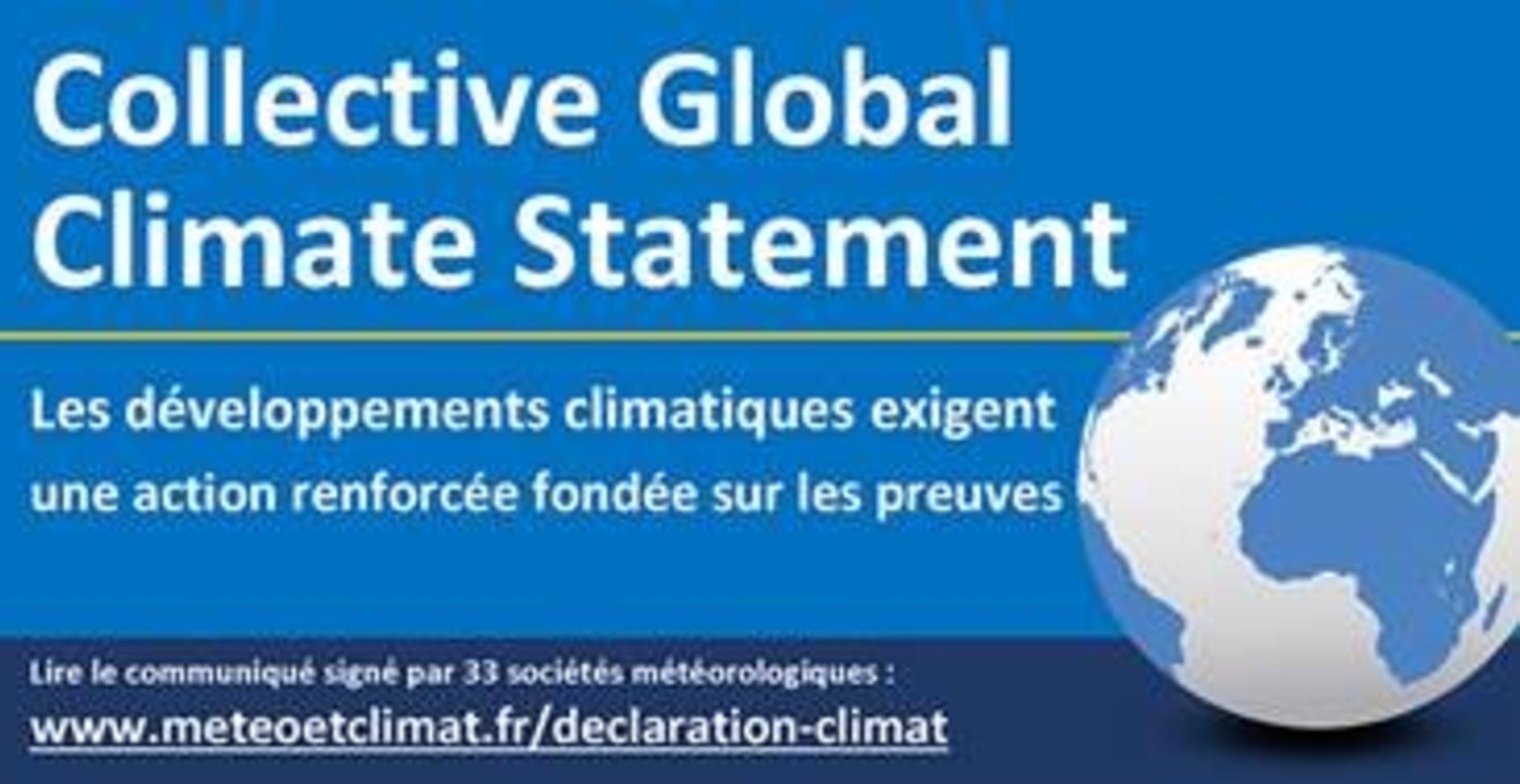 Déclaration pour une approche collective du climat mondial de 33 sociétés météorologiques