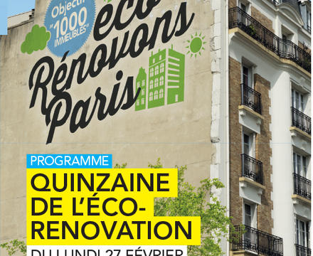 Quinzaine de l'éco-rénovation à Paris
