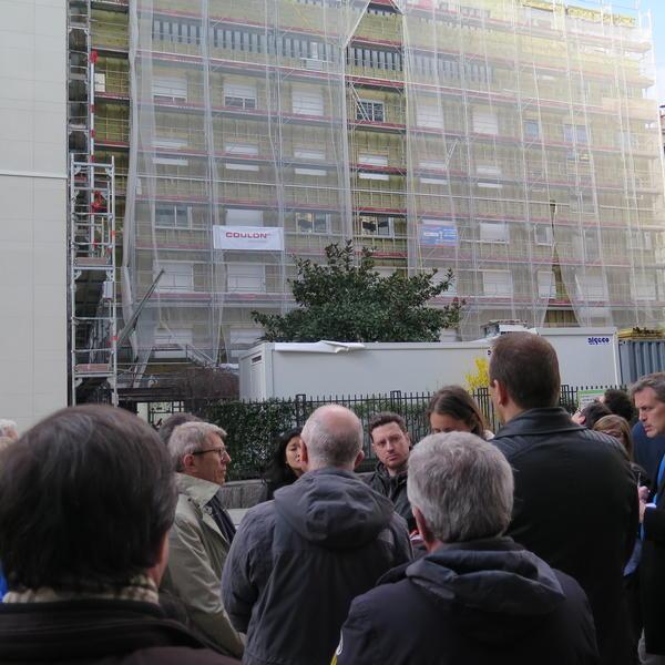 Inauguration du chantier de rénovation exemplaire de la copropriété Du Gueslin
