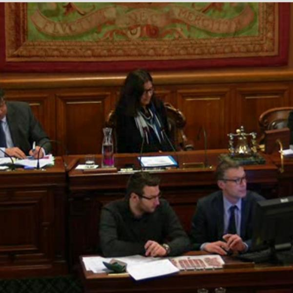 Les représentants de la conférence citoyenne présentent leurs idées pour le nouveau Plan Climat Air Energie
