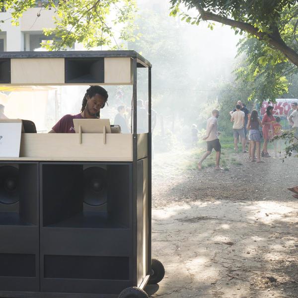 Pikip Solar Speakers à l'Organic Djüs Festival Montreuil