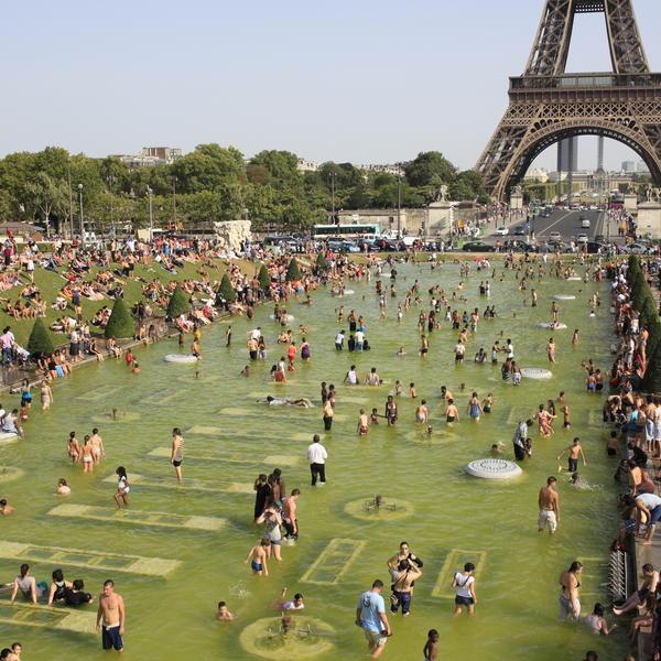 Fontaines jardins du Trocadero