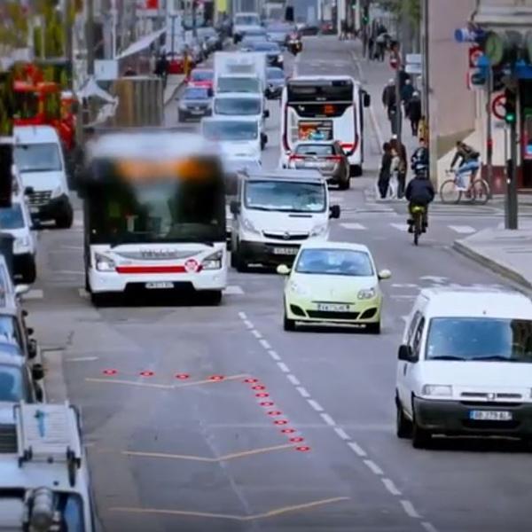 Couloir de Bus Dynamique à Lyon