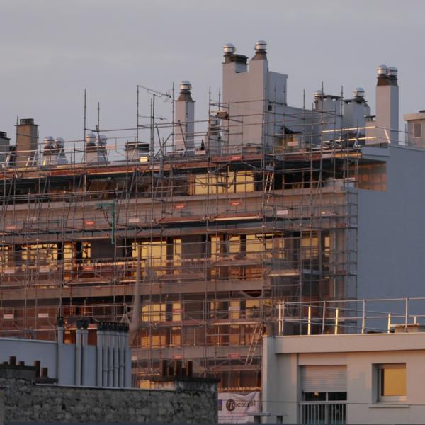 Copropriété en travaux de rénovation énergétique