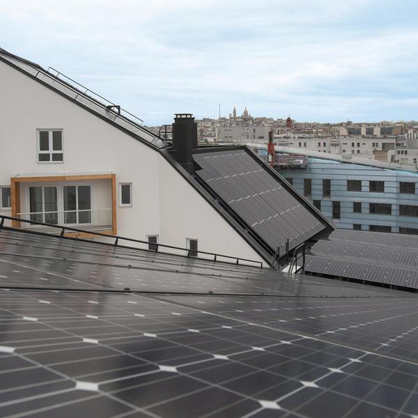 Panneaux photovoltaïques © Marc Verhille/Ville de Paris