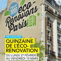 Quinzaine de l'éco-rénovation à Paris