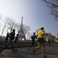 Coureurs du Marathon de Paris
