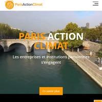 Homepage site Paris Action Climat