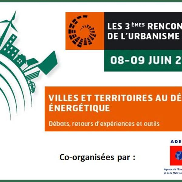 1eres rencontres nationales de l'urbanisme durable