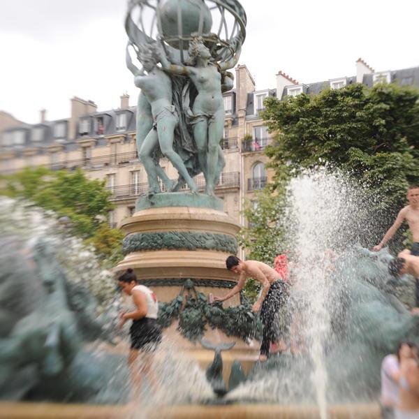 Canicule Paris Climat Fontaine