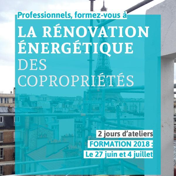 Plaquette de formation - Rénovation Energétique des Copropriétés - Juin 2018