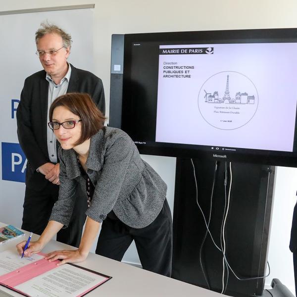 Signature Charte efficacité énergétique bâtiments tertiaires