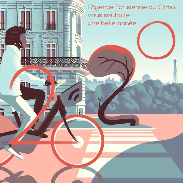 Carte de Voeux Agence Parisienne du Climat 2020