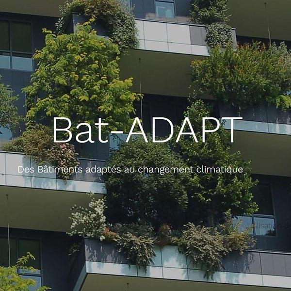 Plateforme Bat-ADAPT, pour adapter le bâtiment au changement climatiqueue