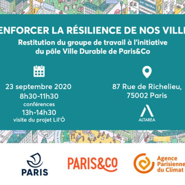 Renforcer la résilience de nos villes