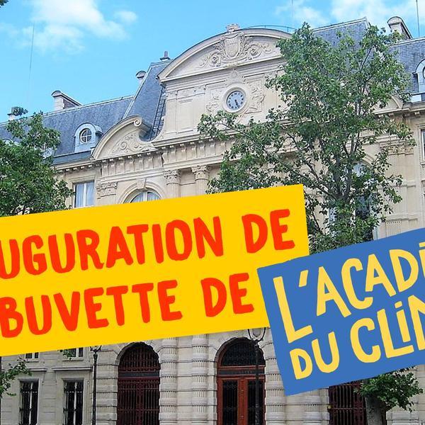 Visuel Inauguration de la buvette Académie du Climat